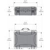 NANUK - Odolný kufr model 925 4UP Pistol - šedý